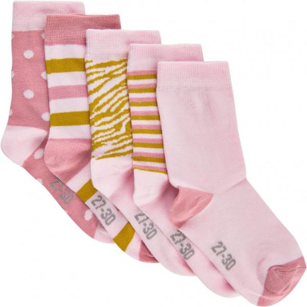 Minymo Kinder Socken Sock W. Pattern (5-Pack) Light Rose