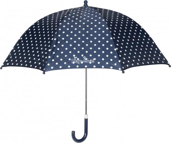 Playshoes Kinder Regenschirm Punkte marine