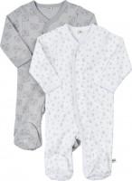Pippi Babywear Kinder Schlafanzug Nightsuit mit Foot Buttons (2er Pack) Harbor Mist