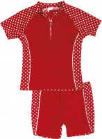 Playshoes Kinder UV-Schutz Bade-Set Punkte Rot
