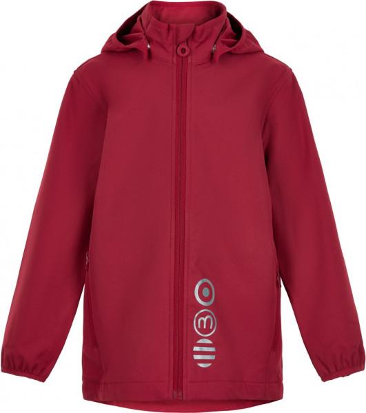 Minymo Kinder Jacke Softshell Jacket Solid Deep Claret Red