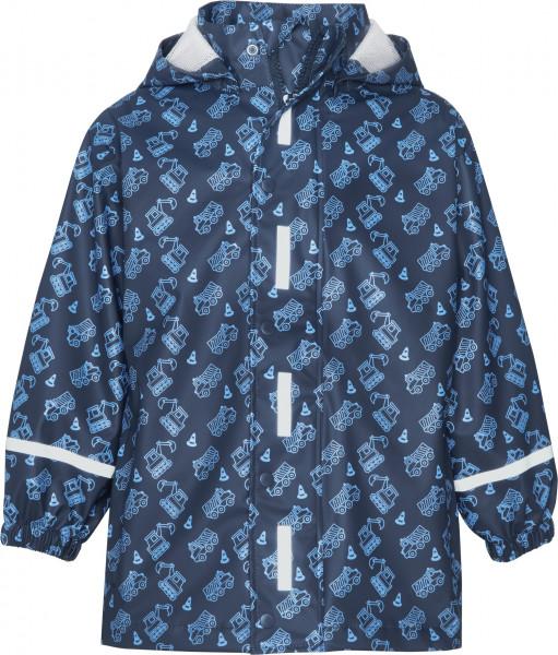Playshoes Kinder Regen-Mantel Baustelle allover marine