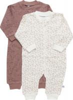 Pippi Babywear Kinder Schlafanzug Nightsuit Zipper (2er Pack) Burlwood