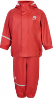 Celavi Kinder Regenset Basic Rainwear Set Solid PU Baked Apple Red