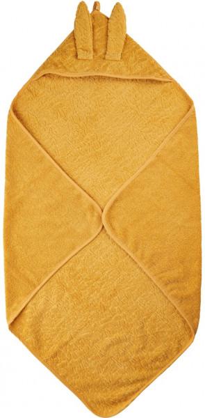 Pippi Baybwear Kinder Badetuch Organic Hooded Towel 83x83 cm Mineral Yellow
