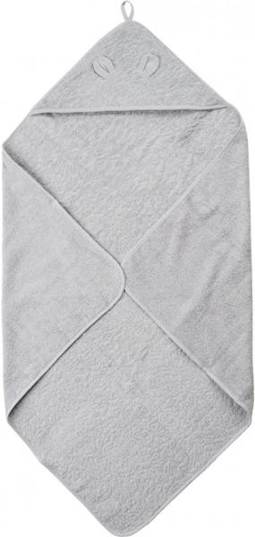Pippi Baybwear Kinder Badetuch Organic Hooded Towel 83x83 cm Harbor Mist Grey