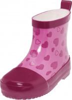 Playshoes Kinder Gummistiefel Halbschaft Herzchen Pink