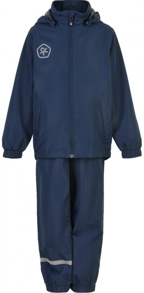 Color Kids Kinder Regenset Rain Set, Af 5.000 All Seams Taped Marine Blue