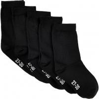 Minymo Kinder Socken Ankle Sock Solid (5-Pack) Black