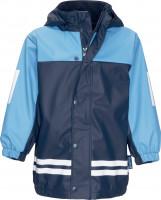 Playshoes Kinder Regen-Anzug mit Fleece-Futter marine