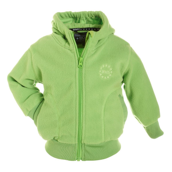 BMS Kinder Antarctic Clima-Fleece College Kids Jacke Limette
