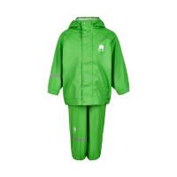 Celavi Kinder Regenset Basic Rainwear Set Solid PU Green