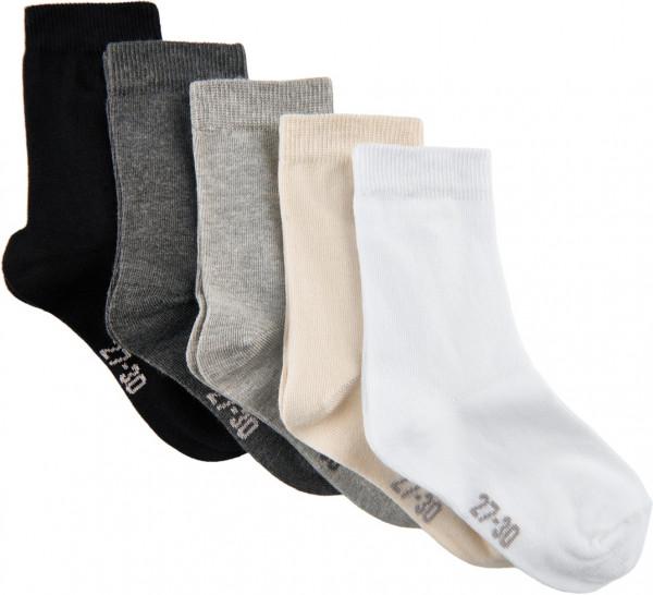 Minymo Kinder Socken Ankle Sock - Multi (5-Pack) White