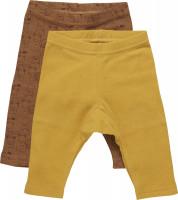 Pippi Babywear Kinder Leggings mit AOP (2er Pack) Tinsel