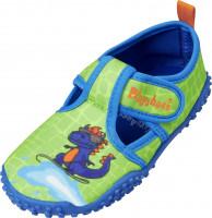 Playshoes Kinder Aqua-Schuh Dino Blau/Grün