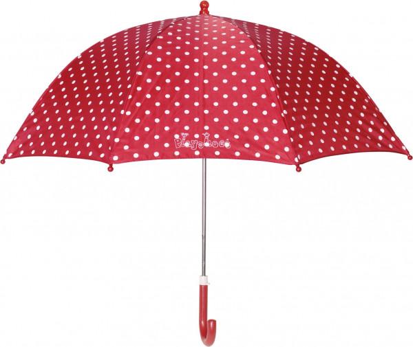 Playshoes Kinder Regenschirm Punkte rot