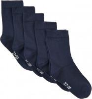 Minymo Kinder Socken Ankle Sock Solid (5-Pack) Dark Navy