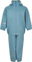 Celavi Kinder Regenset Basic Rainwear Set -Recycle Pu Smoke Blue