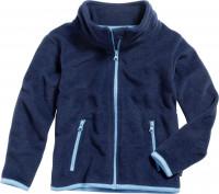 Playshoes Kinder Fleece-Jacke farbig abgesetzt Marine
