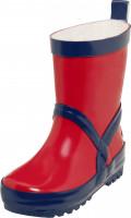 Playshoes Kinder Gummistiefel Uni Rot/Marine