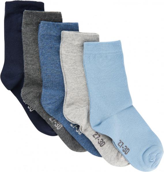 Minymo Kinder Socken Ankle Sock - Multi (5-Pack) Dark Navy