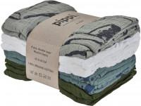 Pippi Baybwear Kinder Windeln Organic Cloth Muslin (8-Pack) Aop 65x65 cm Lead