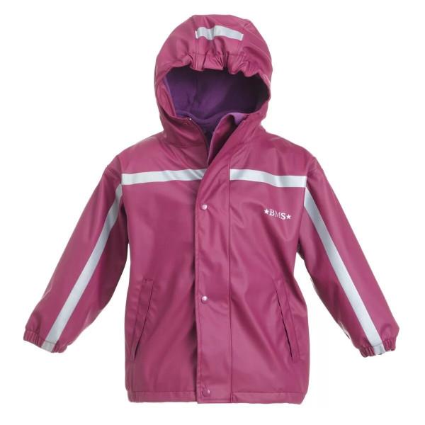 BMS Kinder Regenjacke Antarctic Softskin Buddeljacke Purple