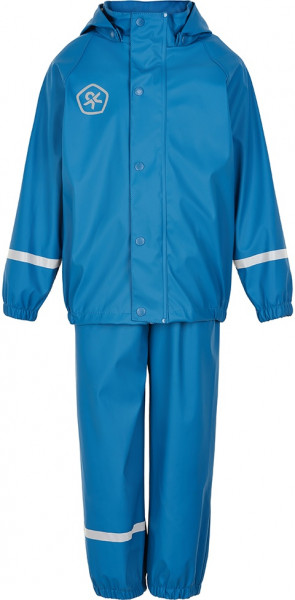 Color Kids Kinder Regenset Taxi Rain Set Pu Welded Seams Faience Blue