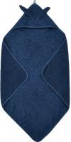 Pippi Baybwear Kinder Badetuch Organic Hooded Towel 83x83 cm Dress Blues