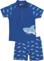 Playshoes Kinder UV-Schutz Bade-Set Hai Blau