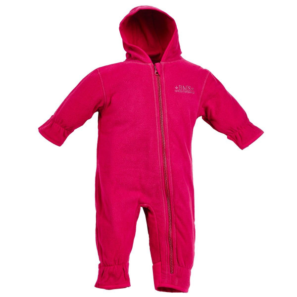 BMS Kinder / Kleinkinder Antarctic Clima-Fleece Baby Overall Cranberry