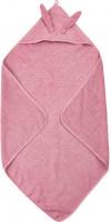 Pippi Baybwear Kinder Badetuch Organic Hooded Towel 83x83 cm Olde Rose