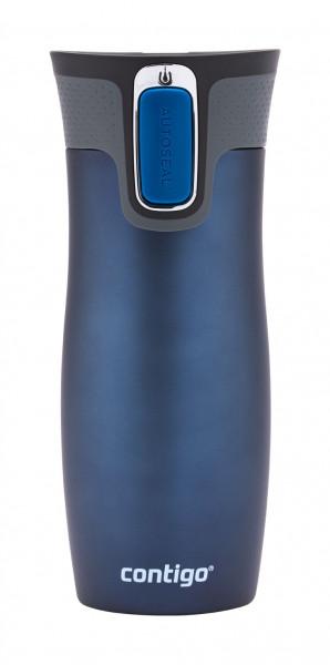 Contigo Thermobecher Westloop Autoseal Monaco Blue Matt mit 470ML Fassungsvermögen