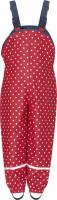 Playshoes Kinder Regenlatzhose mit Punkten rot