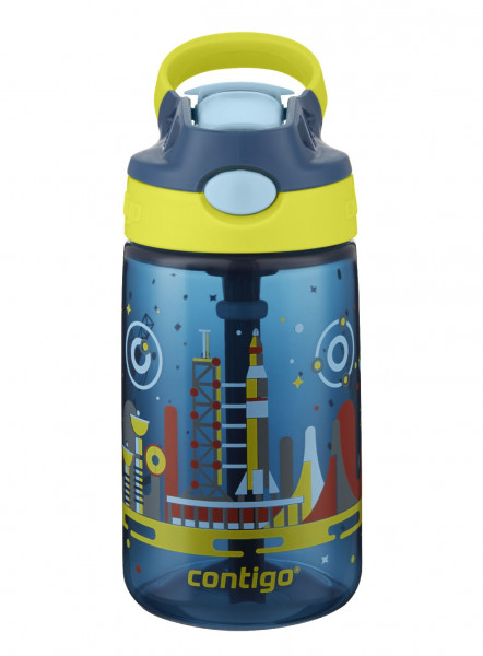 Contigo Trinkflasche Kinder Gizmo Flip Nautical with Space mit 420ML Fassungsvermögen