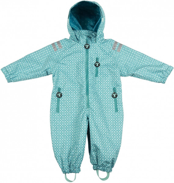 Ducksday Rainsuit Karo Turquoise