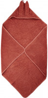 Pippi Baybwear Kinder Badetuch Organic Hooded Towel 83x83 cm Marsala Red