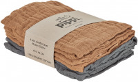 Pippi Baybwear Kinder Windeln Organic Cloth Muslin (4-Pack) 65x65 cm Indian Tan