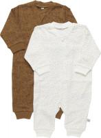 Pippi Babywear Kinder Schlafanzug Nightsuit Zipper (2er Pack) Tinsel