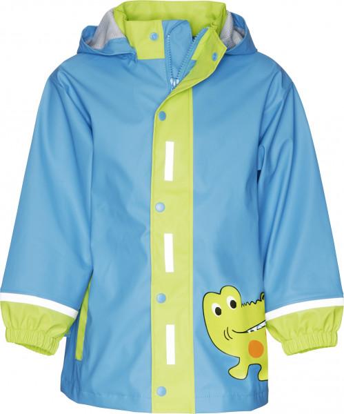 Playshoes Kinder Regen-Mantel Krokodil blau/grün