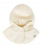 Joha Kids Baby Scarf Cap buttonable, Balaclava, 100% Merino-Wolle Nature