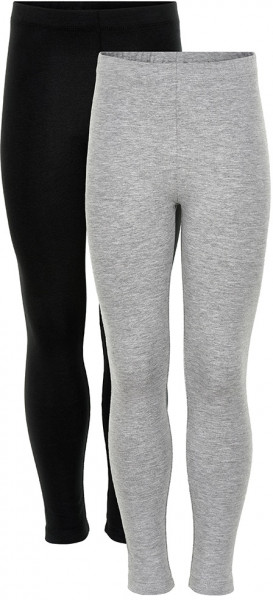 Minymo Mädchen Leggings Basic Leggings (2-Pack) Black