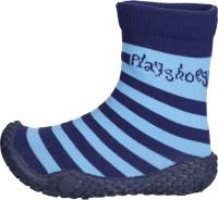 Playshoes Kinder Schuh Aqua-Socke Streifen Marine/Hellblau