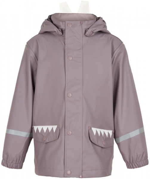 Color Kids Kinder Regenjacke Jacket Pu Grey Orchid