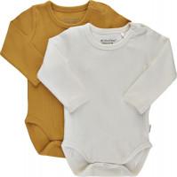 Minymo Kinder Body LS (2er Pack) Amber Gold