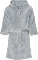 Playshoes Kinder Fleece-Bademantel Uni Grau