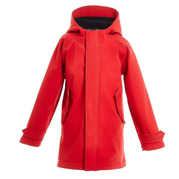 BMS Kinder Jacke / Mantel HafenCity Softshell Kids Coat Rot