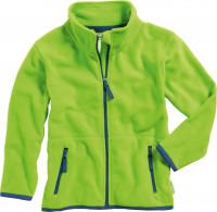 Playshoes Kinder Fleece-Jacke farbig abgesetzt Grün