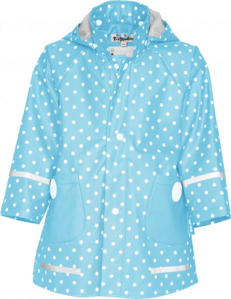 Playshoes Kinder Regen-Mantel Punkte türkis