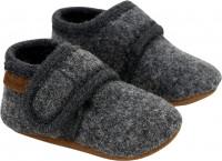 En Fant Kinder Baby Schuhe Baby Hausschuh aus Wolle 250008-Dark grey melange